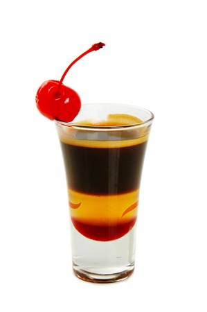 Coffee cocktail isolated photo