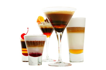 Group of coffee cocktails photo