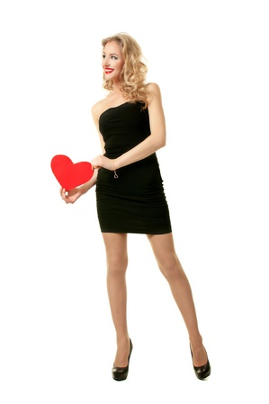 Girl with heart Stock Photo - 19473419