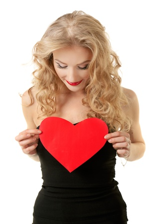 Girl with heart Stock Photo - 19473418