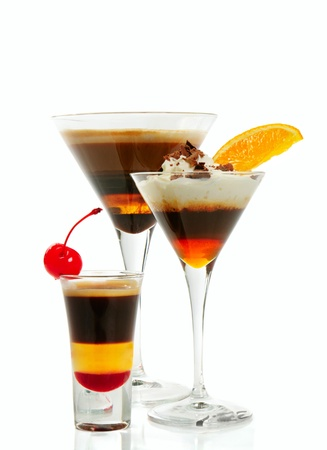 Group of coffee cocktails Stock Photo - 19535840