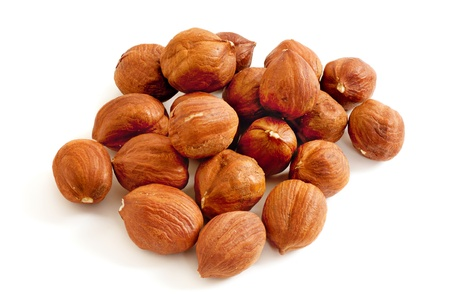 Hazelnut isolated photo