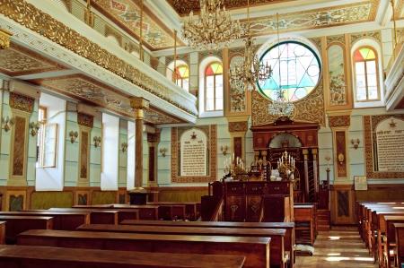 Synagogue interior in Tbilisi, the capital of Georgia