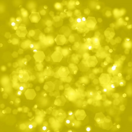 Christmas shiny background with lights and copy space in golden yellow  colors photo