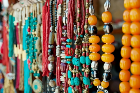 Jewelry at market in Mtsheta, the tourist capital of Georgia Stok Fotoğraf