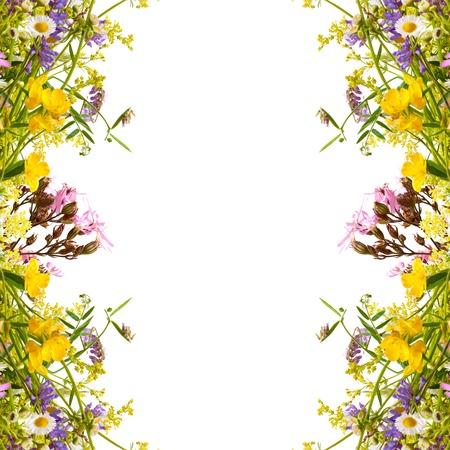 Marco de vacaciones de Pascua de primavera floral con copyspace Foto de archivo - 27565245