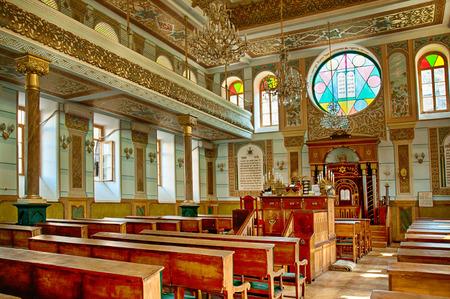 Synagoge interieur in Tbilisi, de hoofdstad van Georgië Redactioneel