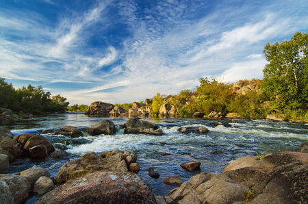 flowing river: Mountain stream Stock Photo