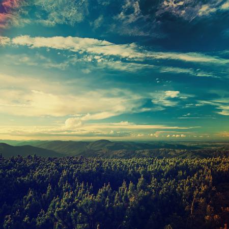 Carpathian zonsondergang Stockfoto