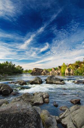 rock creek: Mountain stream Stock Photo