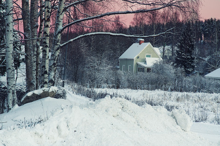 swedish: View of small swedish town