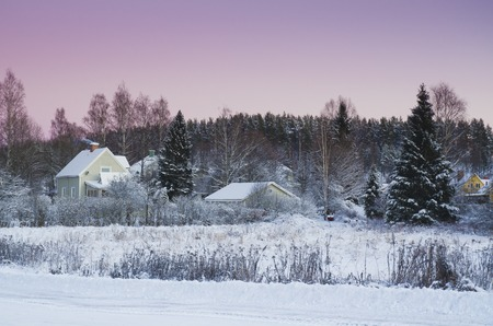 urban idyll: View of small swedish town