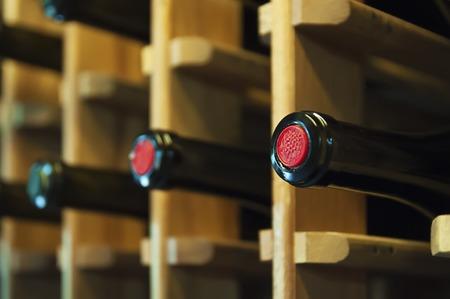 Wine bottles in the shop in Georgia Stock Photo