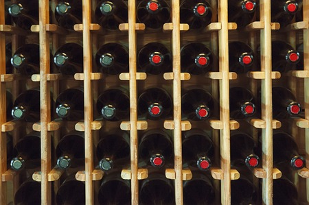 Wine bottles in the shop in Georgia