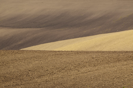 earthy: Earthy abstract natural agricultural  background with hills and waves Stock Photo