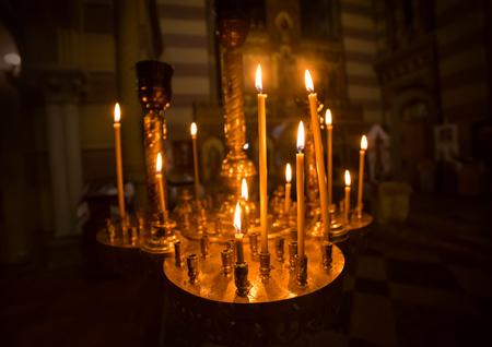 Candles int church