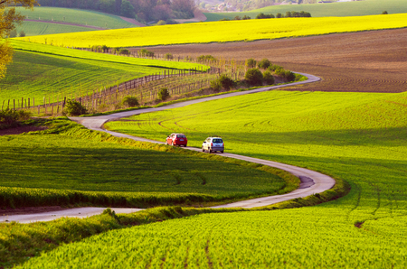 Rural landscape with road Stock Photo