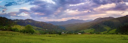 カルパティア山サンセット 写真素材