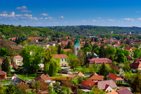 View to the Miskolc city Stock Photo