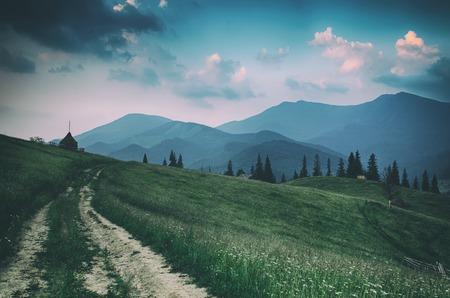 Paysage de montagne d'été Banque d'images - 89444204
