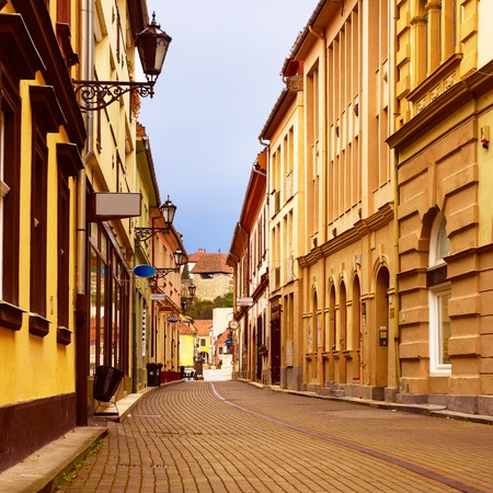 Eger city street Stock Photo