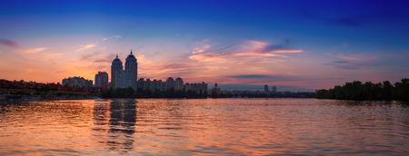 Embankment at sunset 스톡 콘텐츠