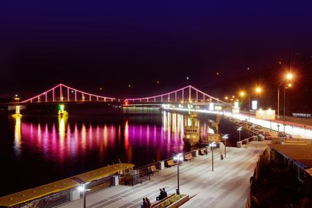 Pedestrian Bridge at night