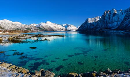 Hiver Norvège lac Banque d'images - 97904910
