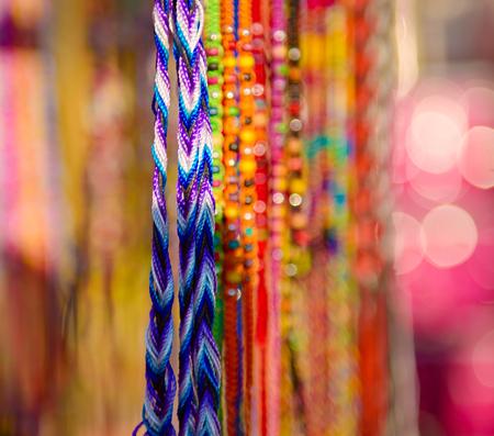 Colorful braided bracelets