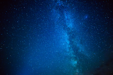 Night sky with lot of shiny star and Milky Way. Abstract natural astro background.