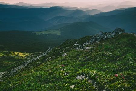 Mountain sunset landscape