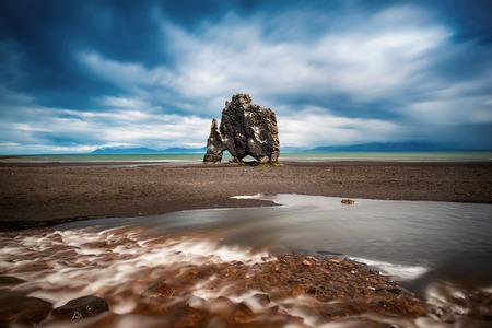 Hvitserkur rock in Iceland 写真素材