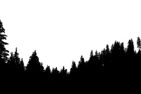 Nevelig berglandschap Stockfoto