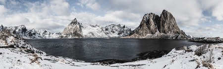 Hamnoy winter panorama