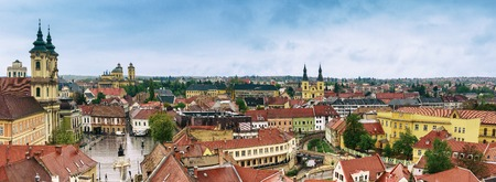 Eger city panorama