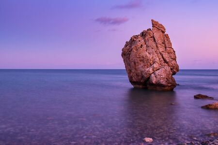 Aphrodites Rock in Cyprus Banque d'images - 129070825