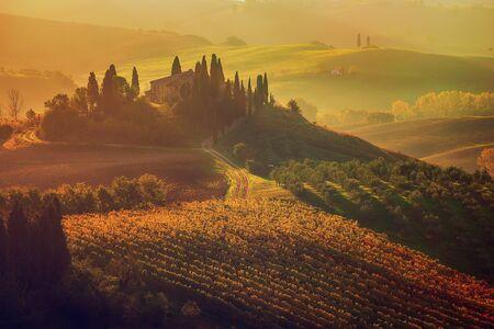 Lever du soleil en Italie Banque d'images