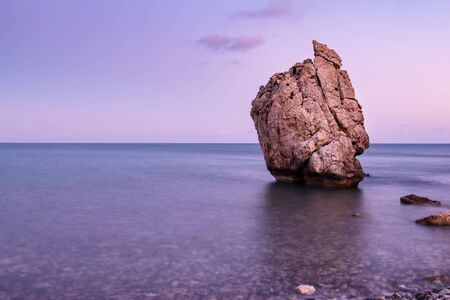 Aphrodites Rock in Cyprus Banque d'images - 129069861