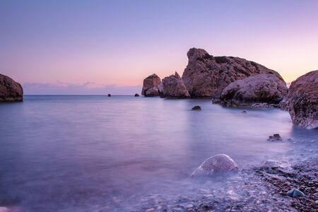 Aphrodites Rock in Cyprus Banque d'images - 129069857