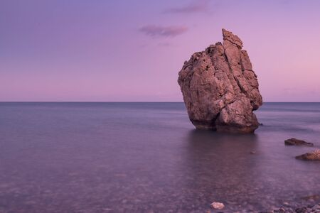 Aphrodites Rock in Cyprus Banque d'images - 129877799