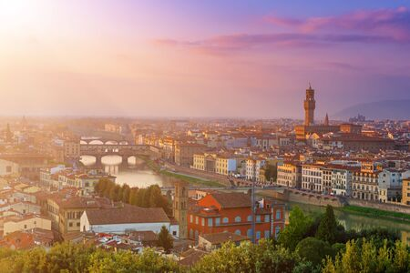 Florence View at sunset Stockfoto