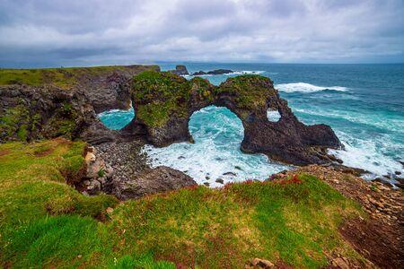 Gatklettur Arch, Iceland
