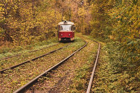 Vintage red tram Banco de Imagens - 131350126