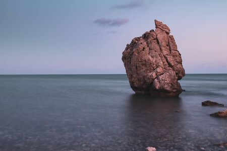 Aphrodites Rock in Cyprus Banque d'images - 132379181