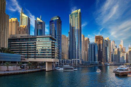 Dubai Marina al atardecer