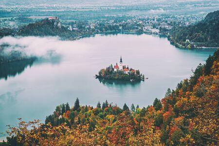 Lake Bled, Slovenia 免版税图像
