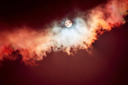 The moon on the dark sky Stockfoto