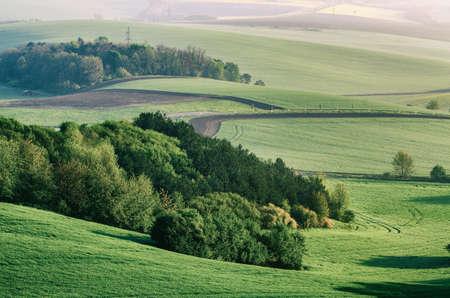 Rural spring landscape Stockfoto