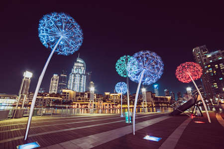 Dubai flower lanterns