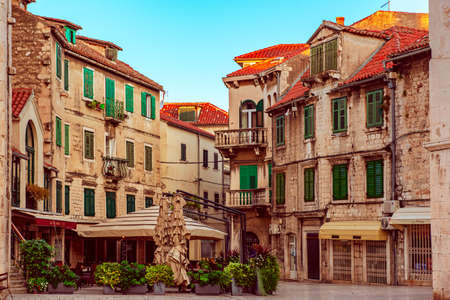 Fruit square in Split, Croatia